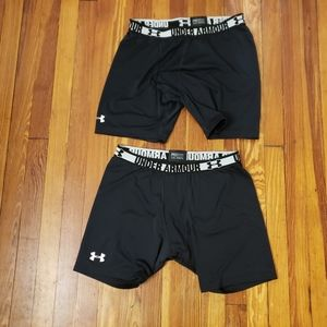 Lot of 2 Under Armour Men's Heat Gear Compression